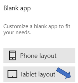 PowerApps layout options