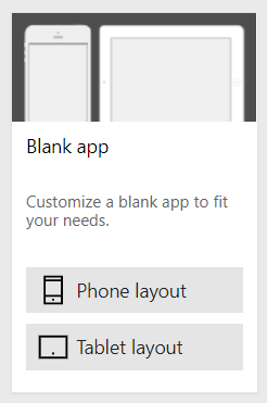 Powerapps Layout variants