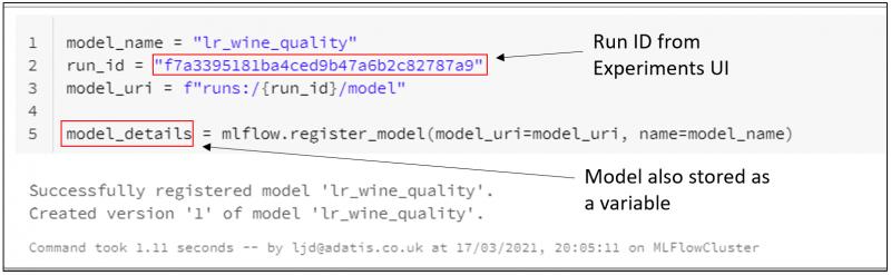 Register Model in Model Registry