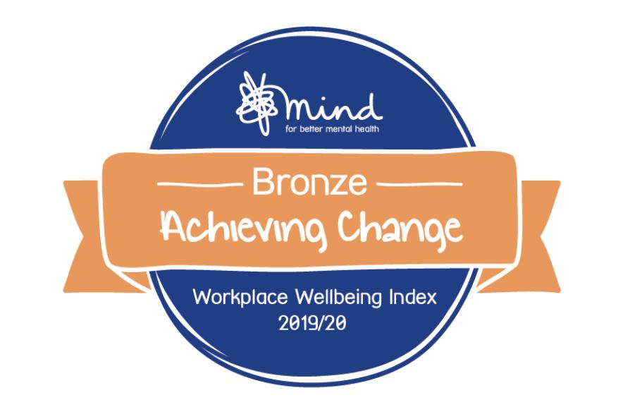 Mind Workplace Wellbeing Bronze Award