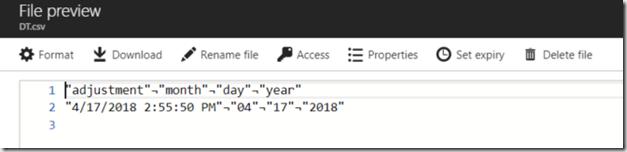usql script date change output