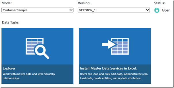 SQL Server 2016 MDS new UI
