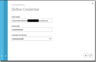 define credentials and use password to login