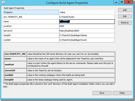 Configure Build Agent Properties in team city
