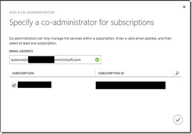 specify co administrator for subscriptions
