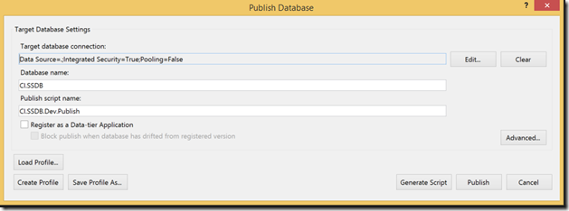 Publish database in TeamCity