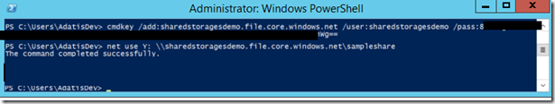 Administrator PowerShell window