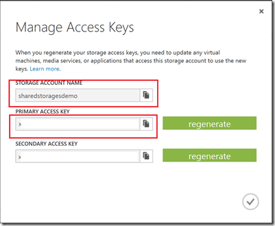 Manage access keys