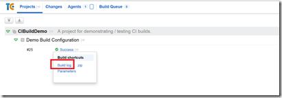 Run the Build in TeamCity