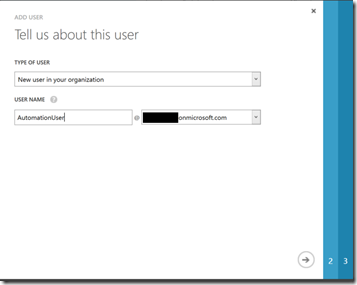 add new user to organisation in active directory