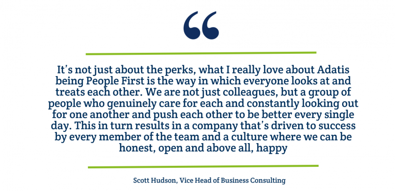 Testimonial from Scott Hudson on why People First his his favourite value