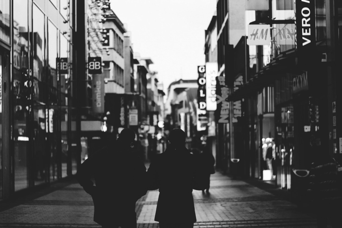 a high street of shops